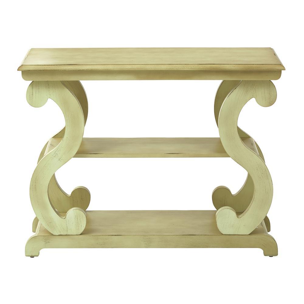 Ashland Antique Celedon Console Table