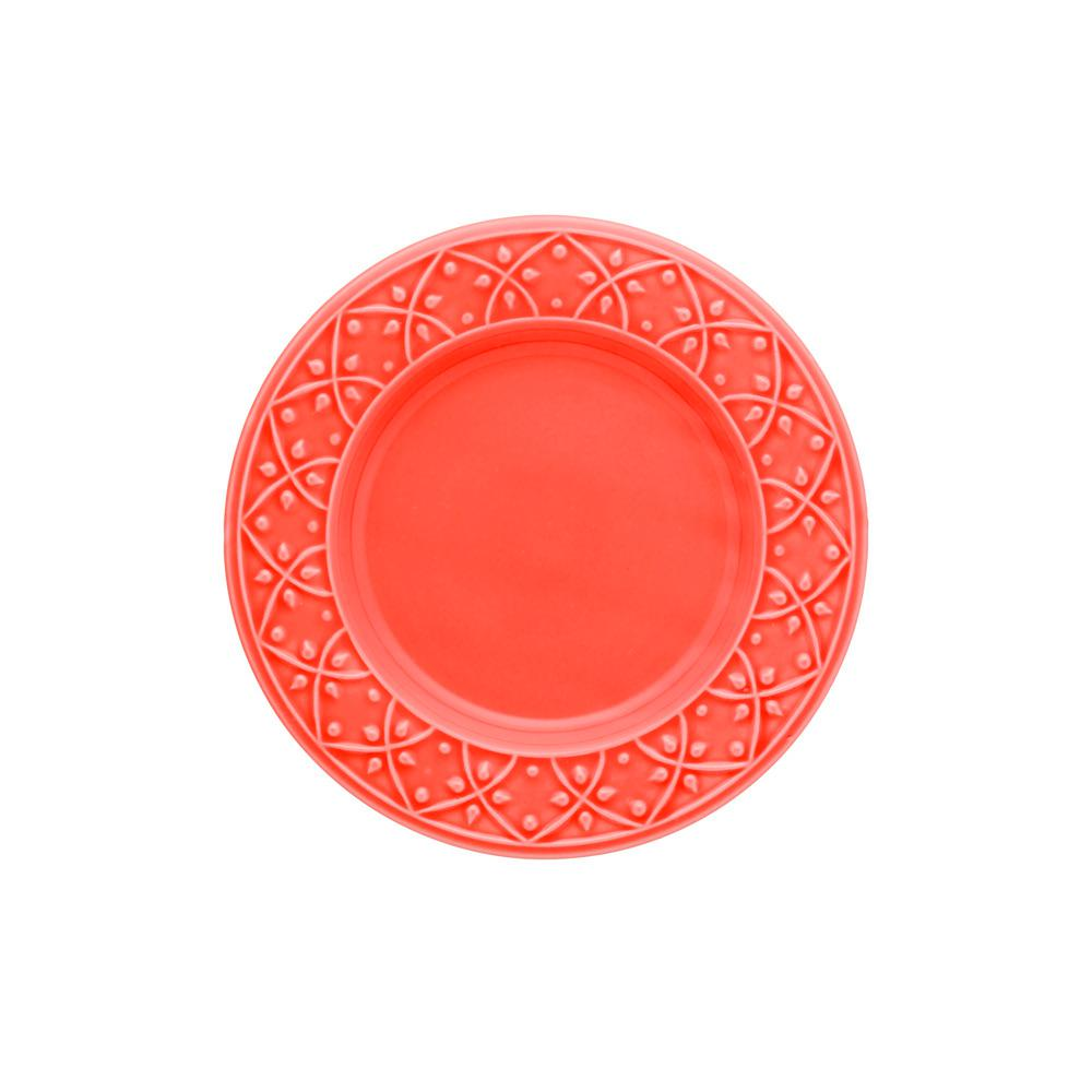 Manhattan Comfort 7.87 in. Mendi Coral Salad Plates (Set of 6), Pink was $69.99 now $36.34 (48.0% off)