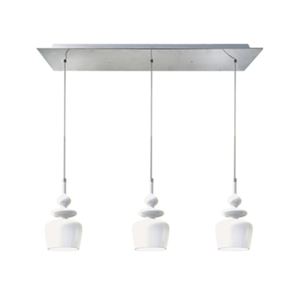 BAZZ Bolo Collection 3-Light Chrome Hanging Pendant