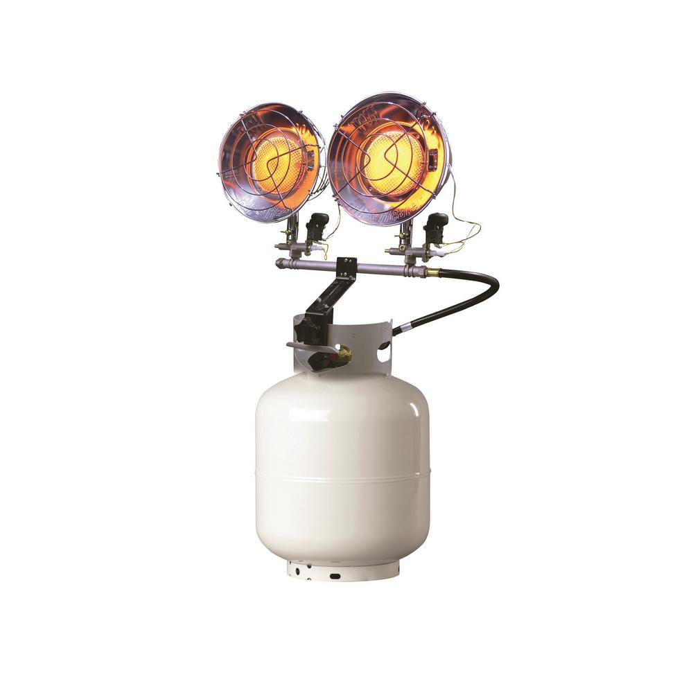 30,000 BTU Radiant Propane Double Tank Top Heater