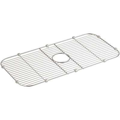 Cool Undertone 27 7 16 In X 13 7 16 In Single Bowl Kitchen Sink Bowl Rack In Stainless Steel Best Image Libraries Thycampuscom