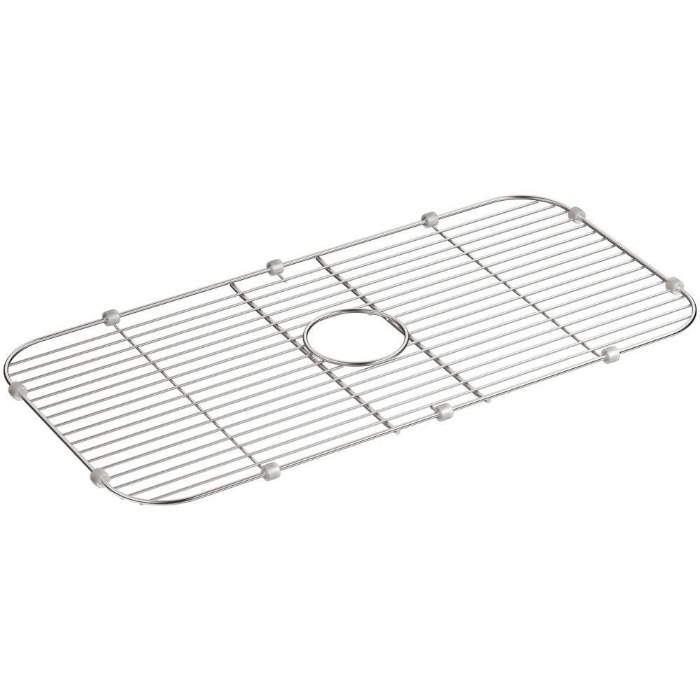 Undertone 27-7/16 in. x 13-7/16 in. Single Bowl Kitchen Sink Bowl Rack in Stainless Steel