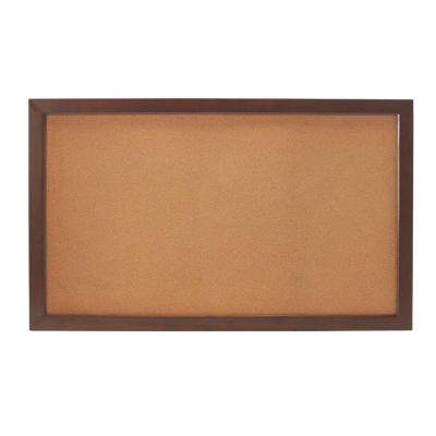 Edinburgh 57 in. W x 34 in. H Modular Cork Board in Espresso