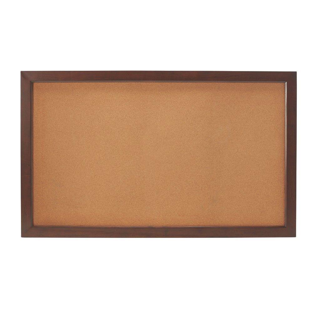 Edinburgh 57 in. W x 34 in. H Modular Cork Board in Espresso