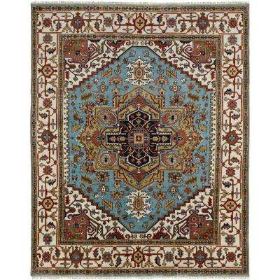Umbria Light Blue/Ivory 6 ft. x 9 ft. Area Rug