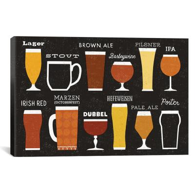 """Craft Beer List"" by Michael Mullan Canvas Wall Art"