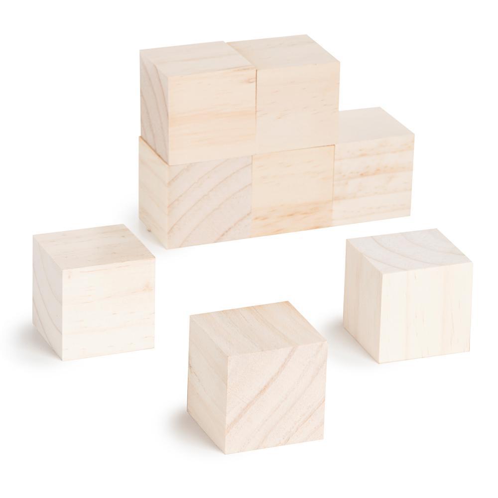 Unfinished Wood Blocks (8-Pack)