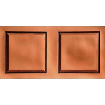 Raised Panel 2 ft. x 4 ft. PVC Lay-in Ceiling Tile in Antique Copper