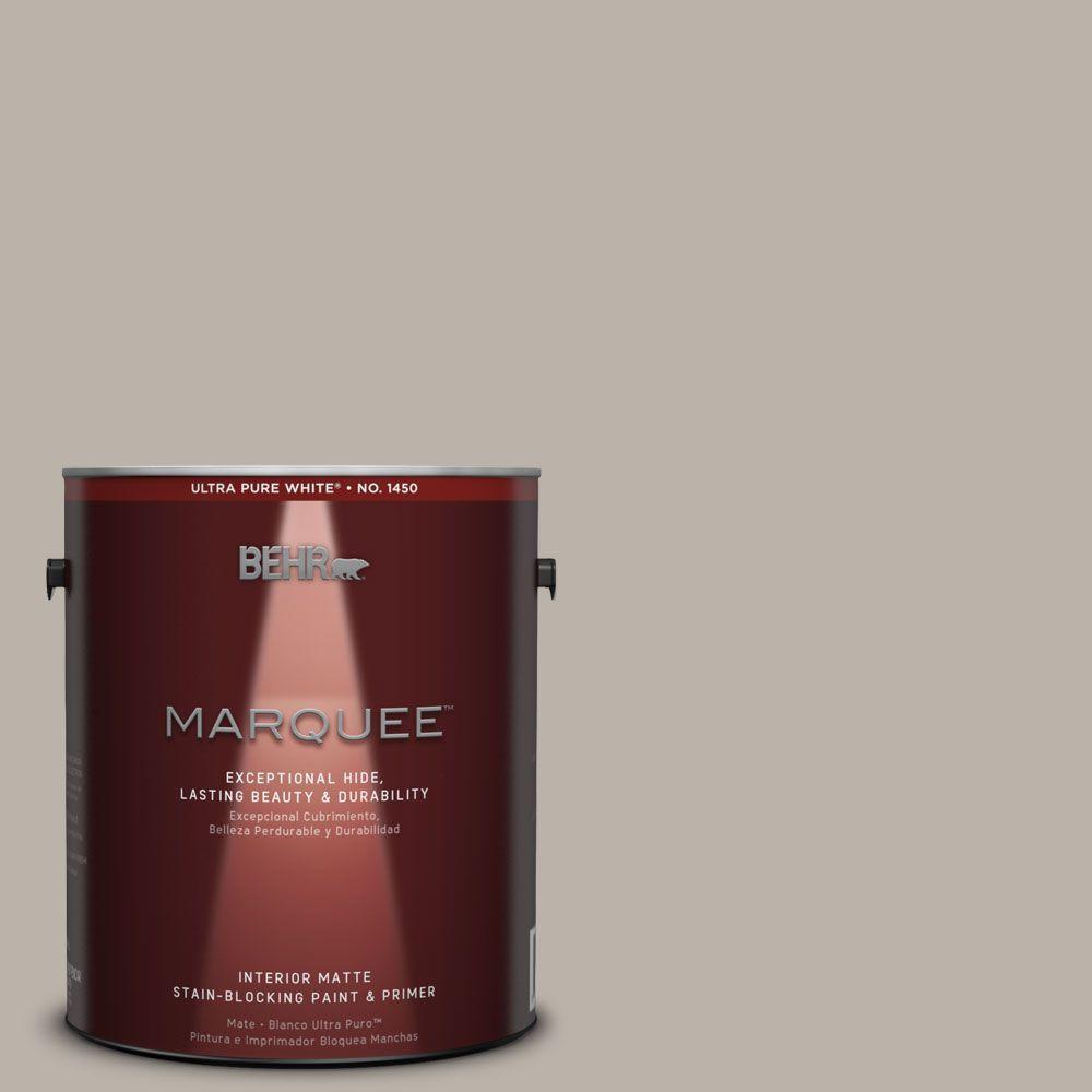 BEHR MARQUEE 1 gal. #MQ2-55 Park Avenue One-Coat Hide Matte Interior Paint