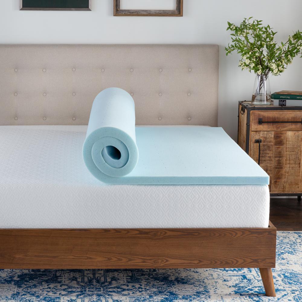 Brookside 4 In Twin Xl Pillow Top And Gel Memory Foam