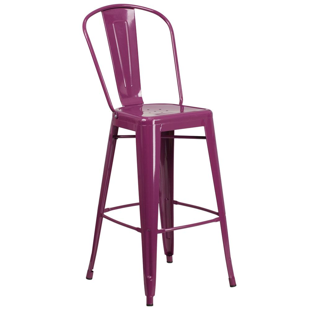30 in. Purple Bar Stool