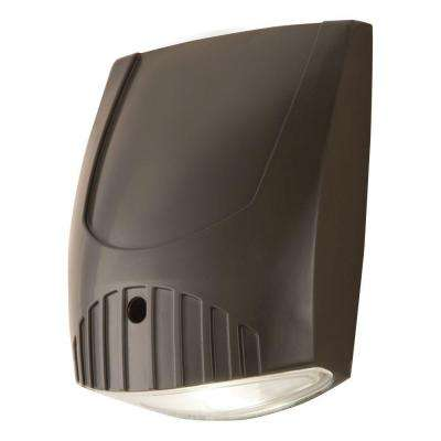 Bronze Integrated LED Outdoor Wall Pack Light with 1600 Lumens, 5000K Daylight