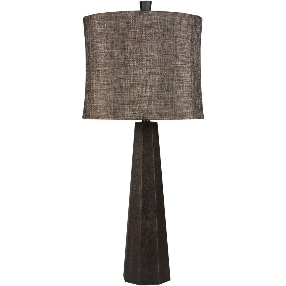 Lucien 33 in. Aged Bronze Indoor Table Lamp