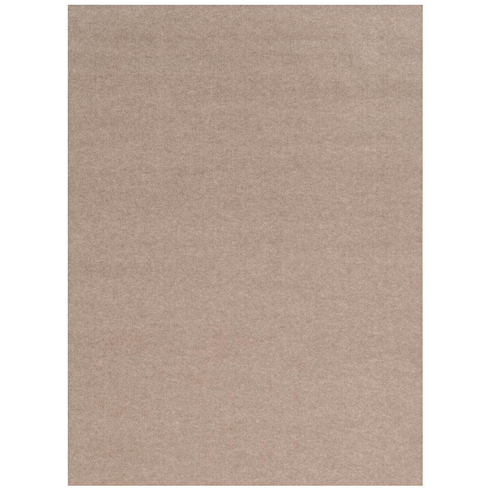 FOSS Foss Ribbed Taupe 6 ft. x 8 ft. Indoor/Outdoor Area Rug, Taupe/Ribbed