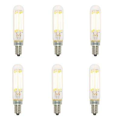 40-Watt Equivalent T6 Dimmable Filament LED Light Bulb Soft White (6-Pack)
