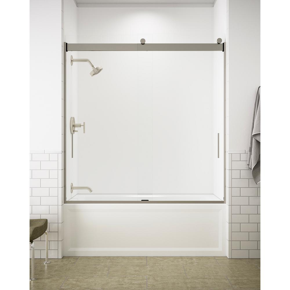 Kohler Levity 59 In X 62 In Semi Frameless Sliding Tub Door In