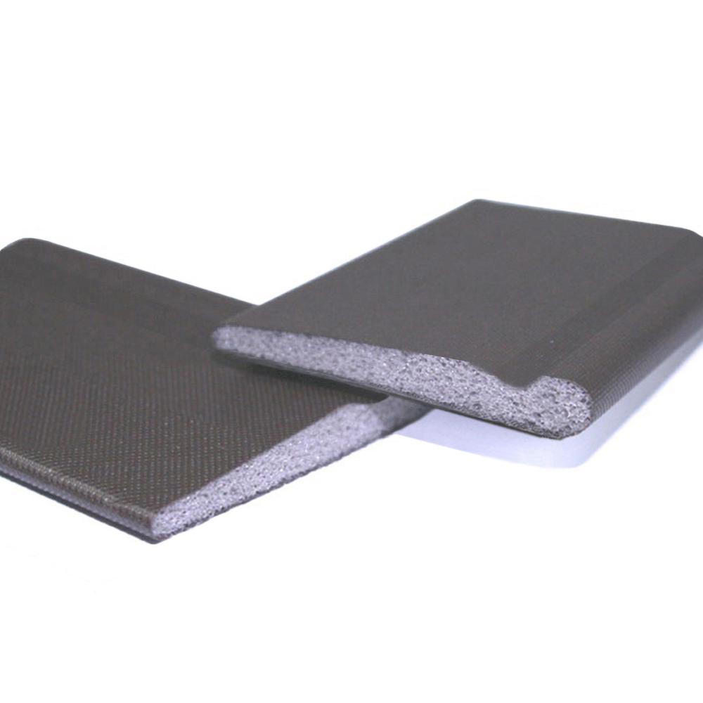 Pack of 2 KS Hardware Door Corner Seals Black