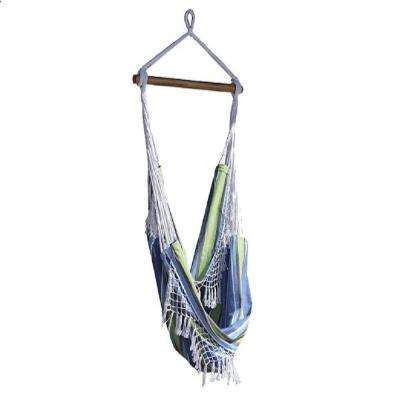 2.5 ft. Brazilian Style Cotton Hammock Chair in Oasis