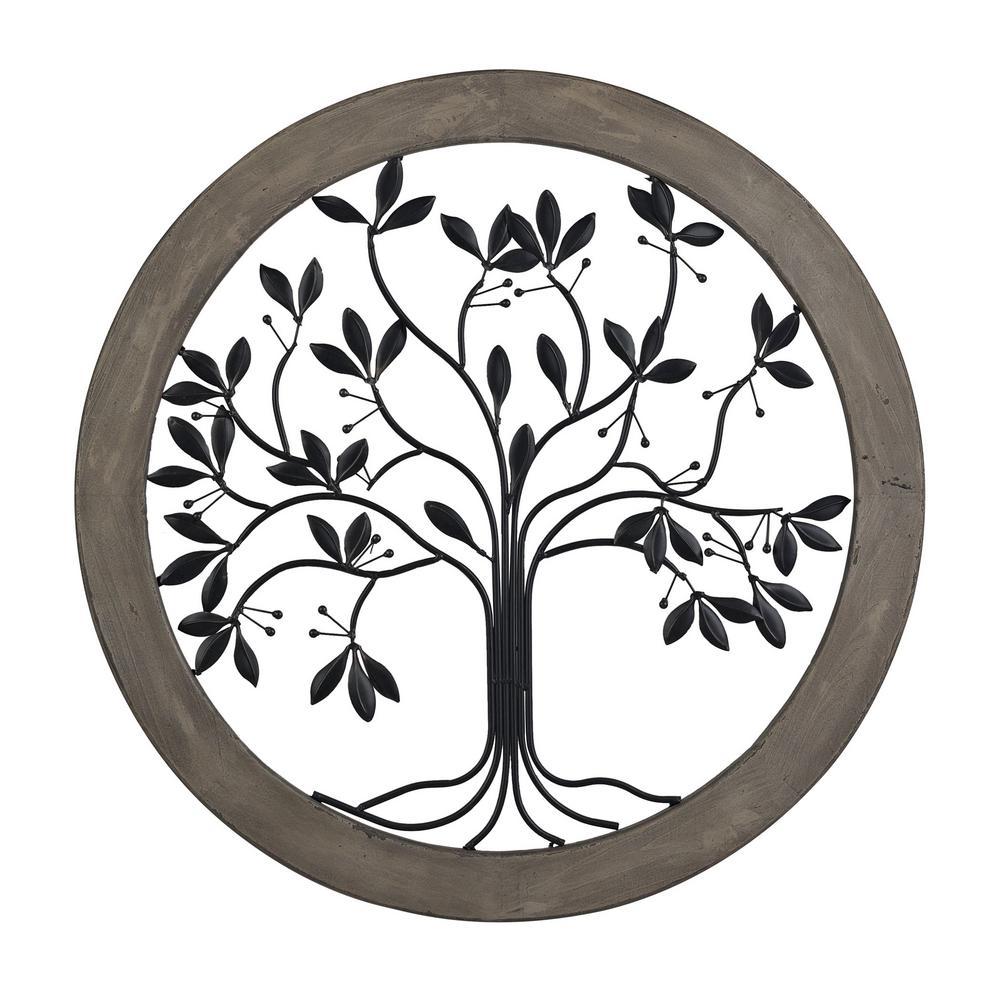 Rossington 35 in. Circular Tree Of Life Wall Panel