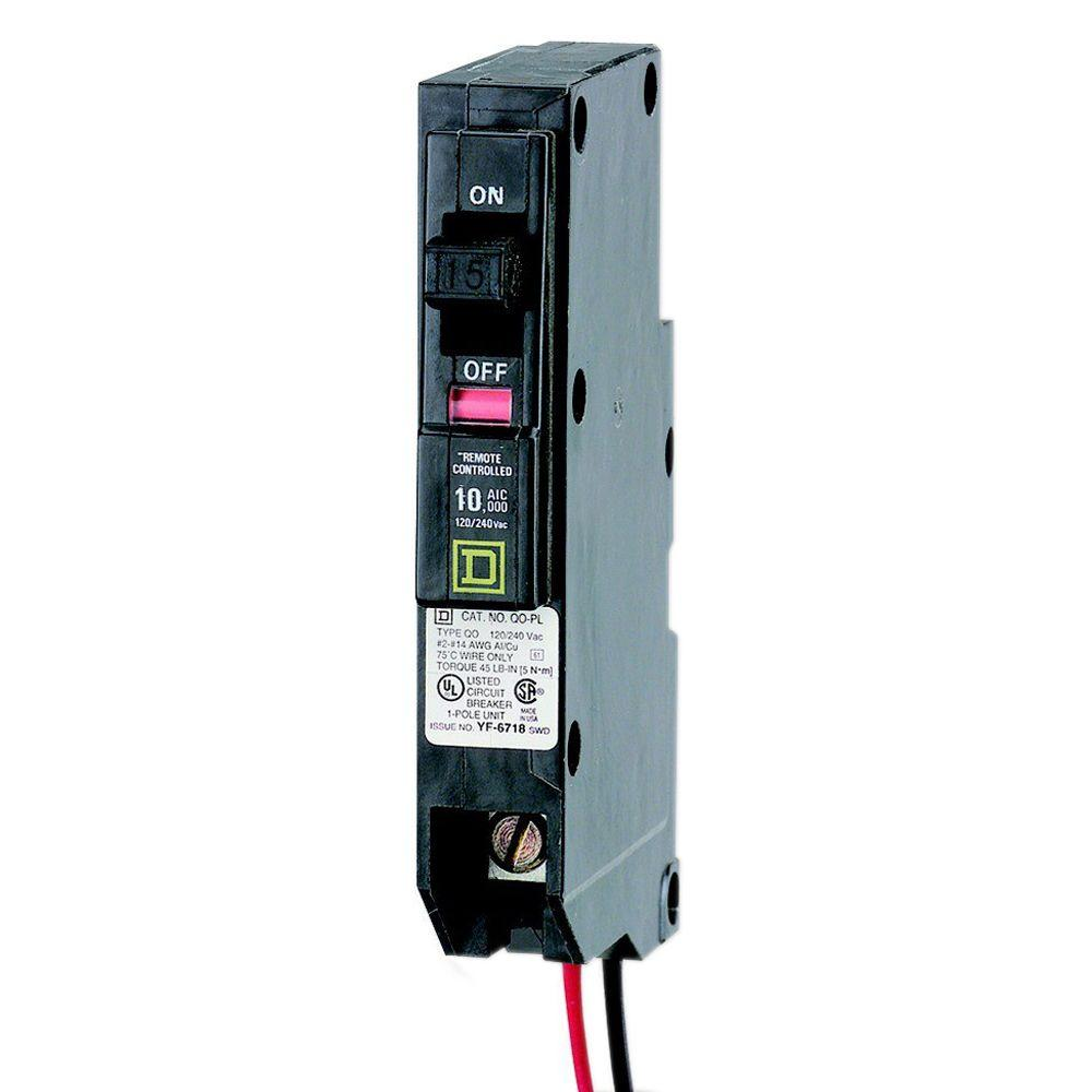 QO 15 Amp 0.7 in. Single-Pole ILC Power Link Circuit Breaker