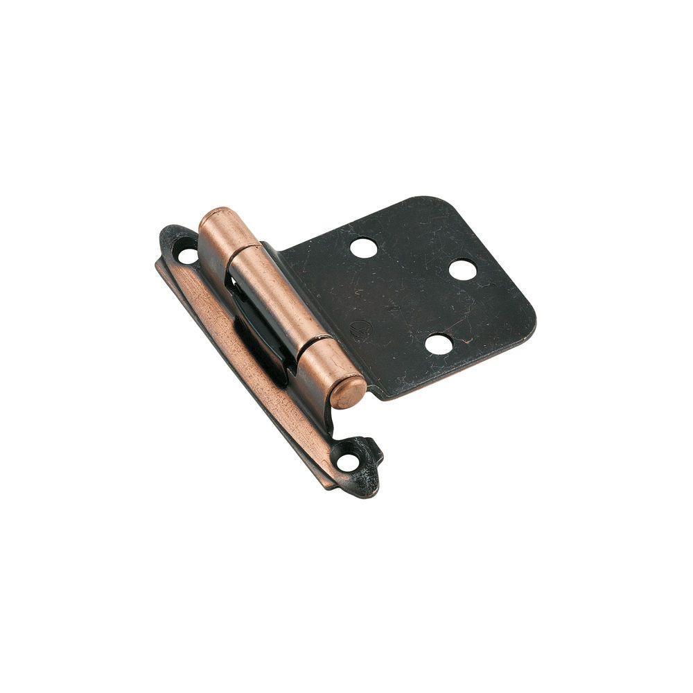 Antique Copper Self-Closing 30 Degree Reverse Bevel