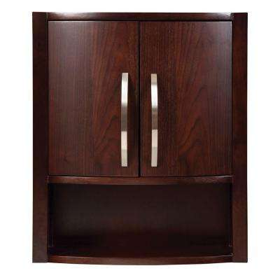 Lola 22 in. W Birch Wall Cabinet in Dark Walnut
