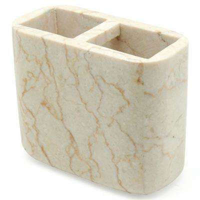 Spa Natural Marble Toothbrush Holder in Champagne Color