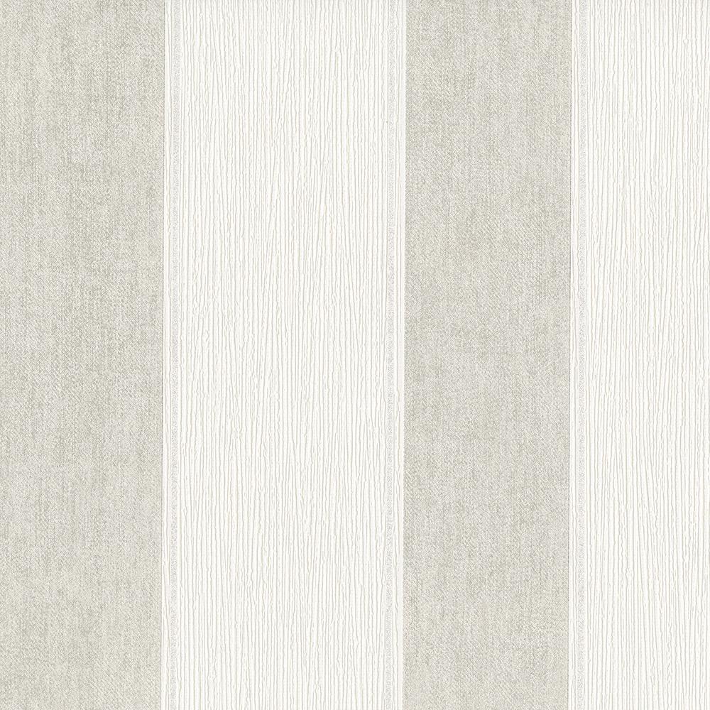 8 in. x 10 in. Lourdes Grey Stripe Wallpaper Sample
