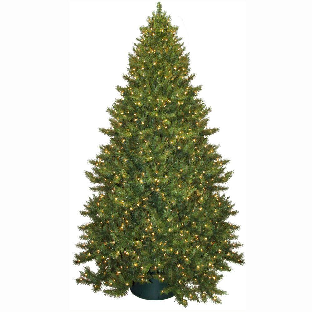 General Foam 9 ft. Pre-Lit Carolina Fir Artificial Christmas Tree with Clear Lights