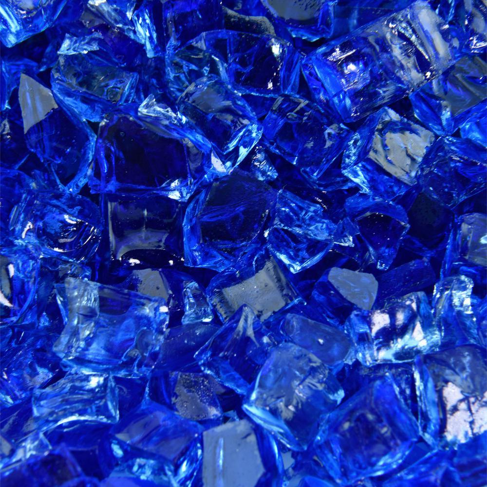 10 lbs. of Deep Sea Blue 1/2 in. Fire Glass