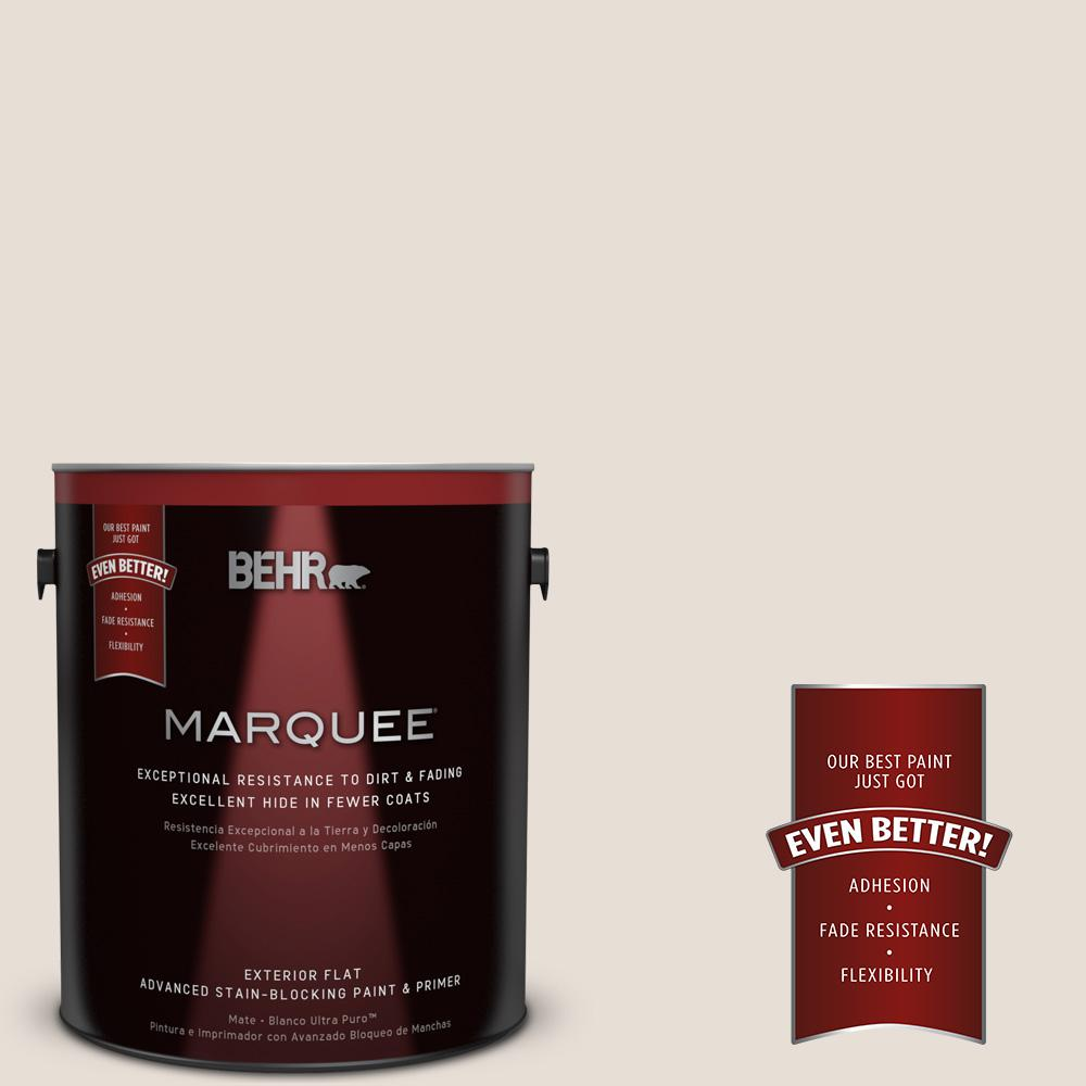 BEHR MARQUEE 1-gal. #PPU2-4 Pale Cashmere Flat Exterior Paint