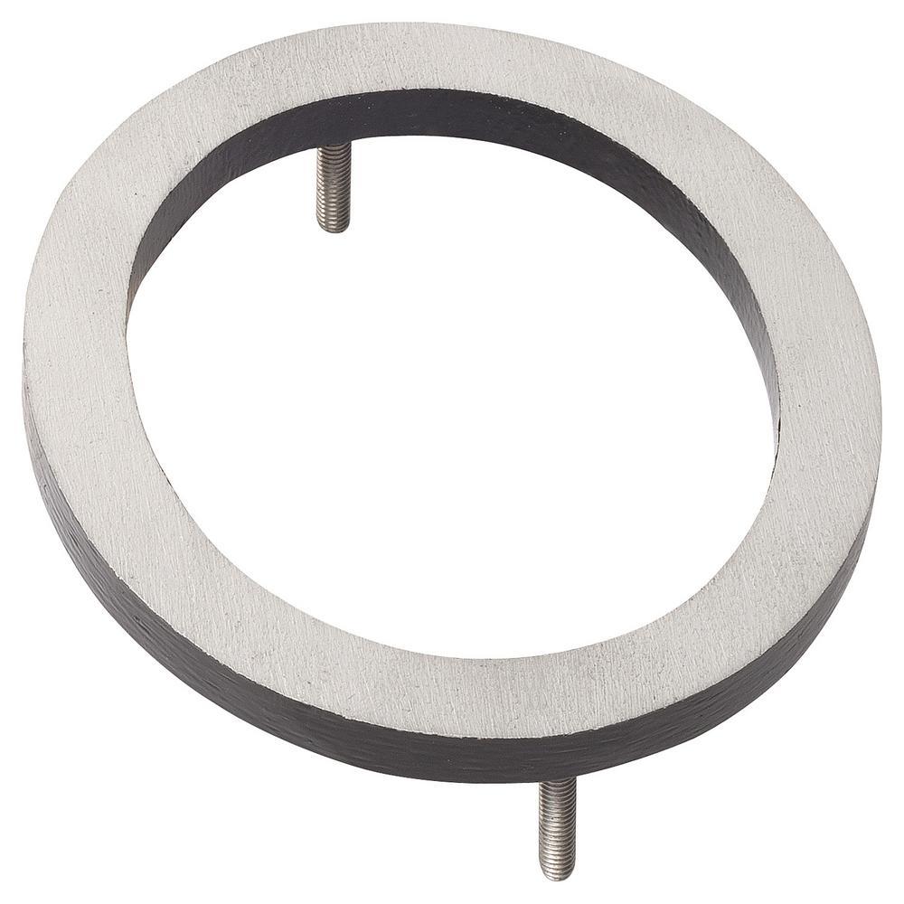 10 in. Satin Nickel/Black 2 Tone Aluminum Floating or Flat Modern House Number 0