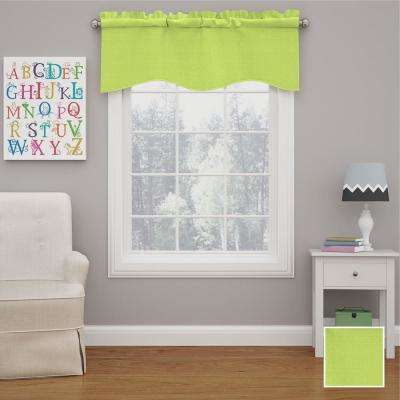 Kendall 18 in. L Polyester Rod Pocket Valance in Lime (1-Pack)