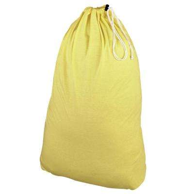 Pastel Yellow Cotton Jersey Laundry Bag and Sorter