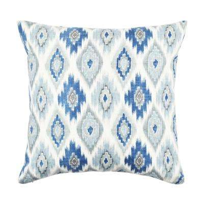 Light Blue Aztec Design Throw Pillow