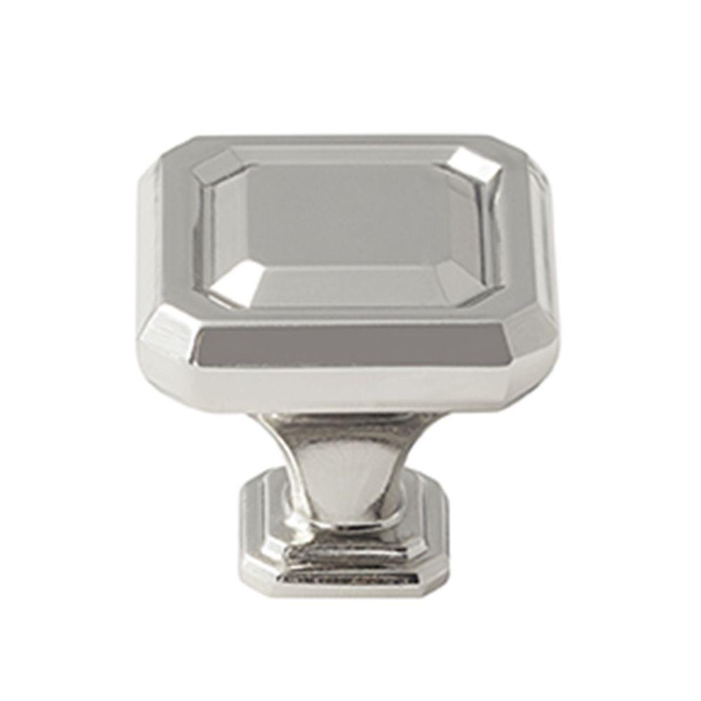 Wells 1-1/4 in. (32 mm) Polished Nickel Cabinet Knob