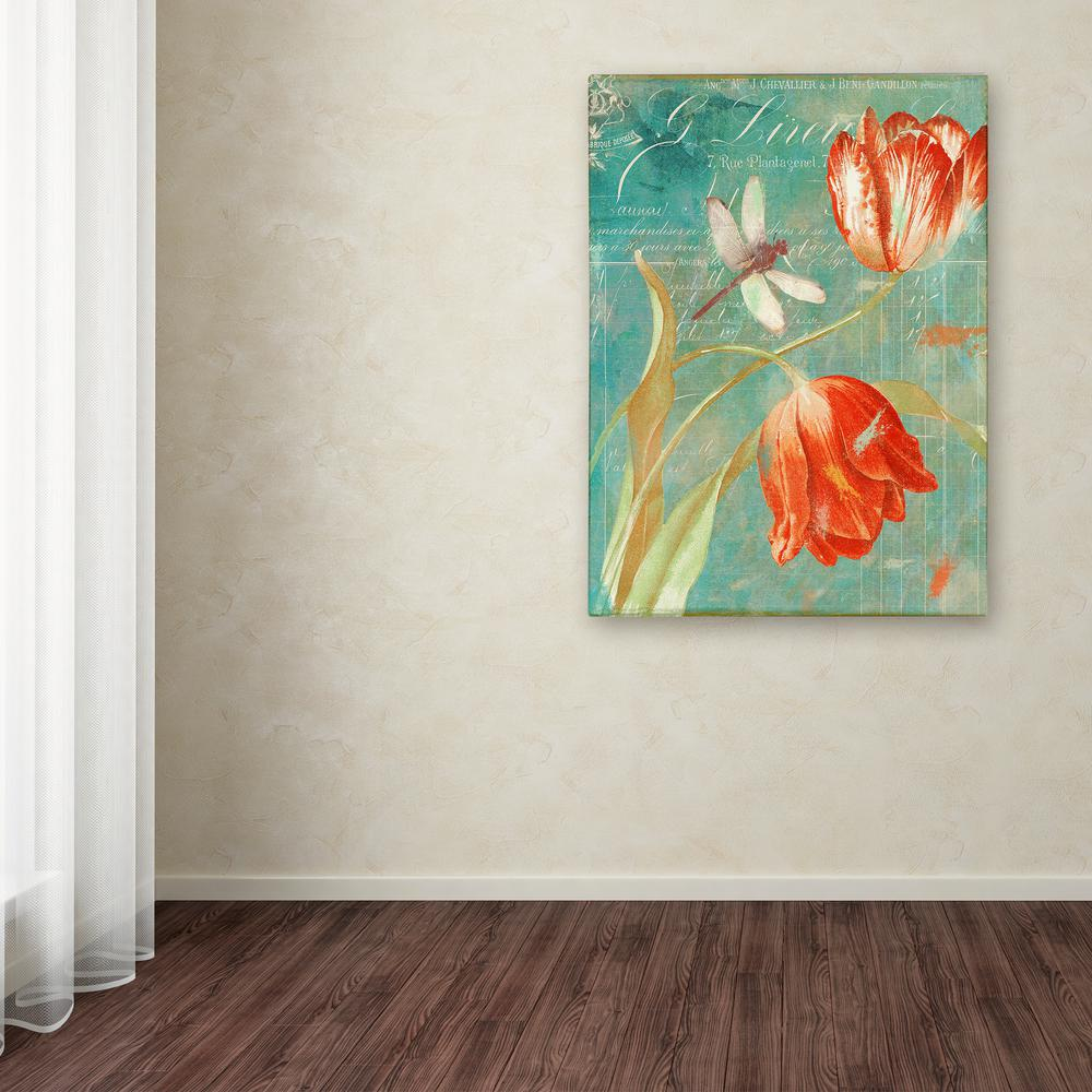 """32 in. x 24 in. """"Mandarin Tulips"""" by Color Bakery Printed"""