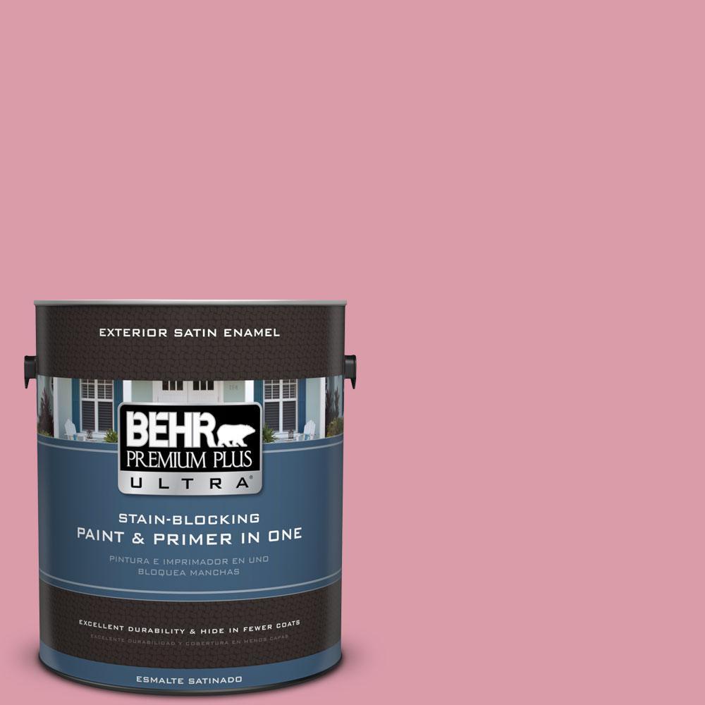 BEHR Premium Plus Ultra 1-gal. #110C-3 Glamour Satin Enamel Exterior Paint