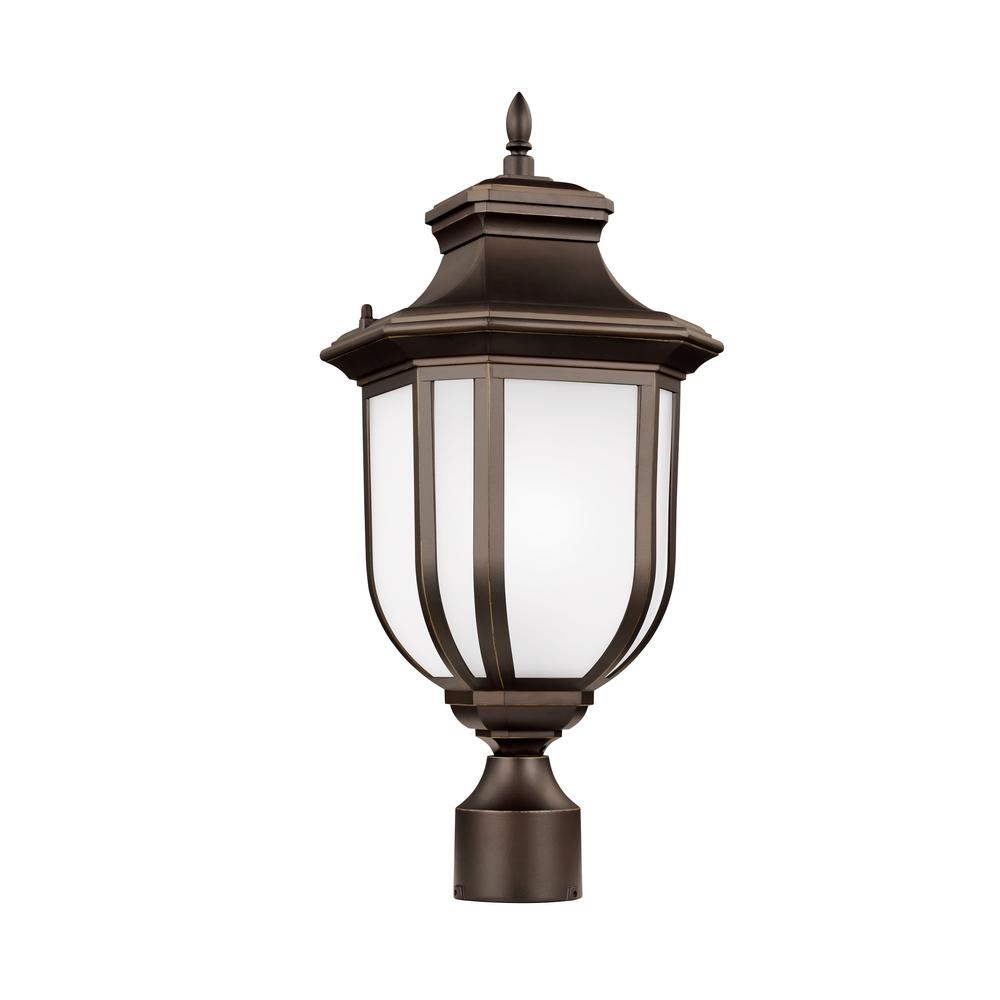 Sea gull lighting childress 1 light outdoor antique bronze post sea gull lighting childress 1 light outdoor antique bronze post light with led bulb sciox Images