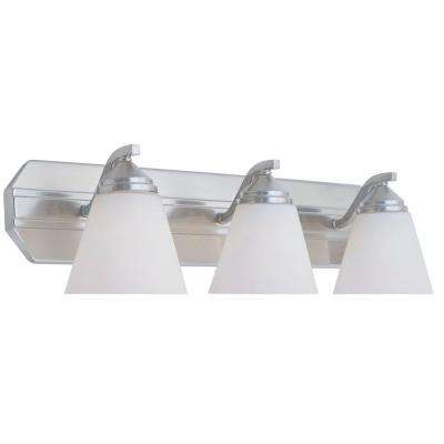 Holland Collection 3-Light Satin Platinum Wall Mount Vanity Light