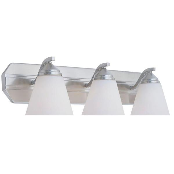 Piazza 3-Light Satin Platinum Wall Mount Vanity Light