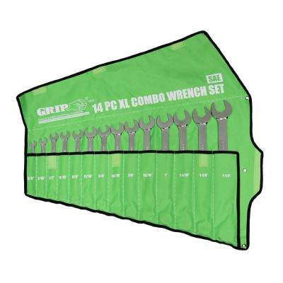 X-Long Combo Wrench Set SAE (14-Piece)