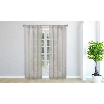 Marylynn Linen Pole Top Panel Pair - 38 in. W x 84 in. L in (2-Piece)