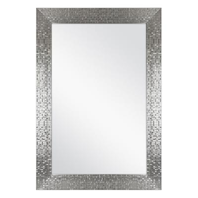 24 in. W x 35 in. L Framed Fog Free Wall Mirror in Silver