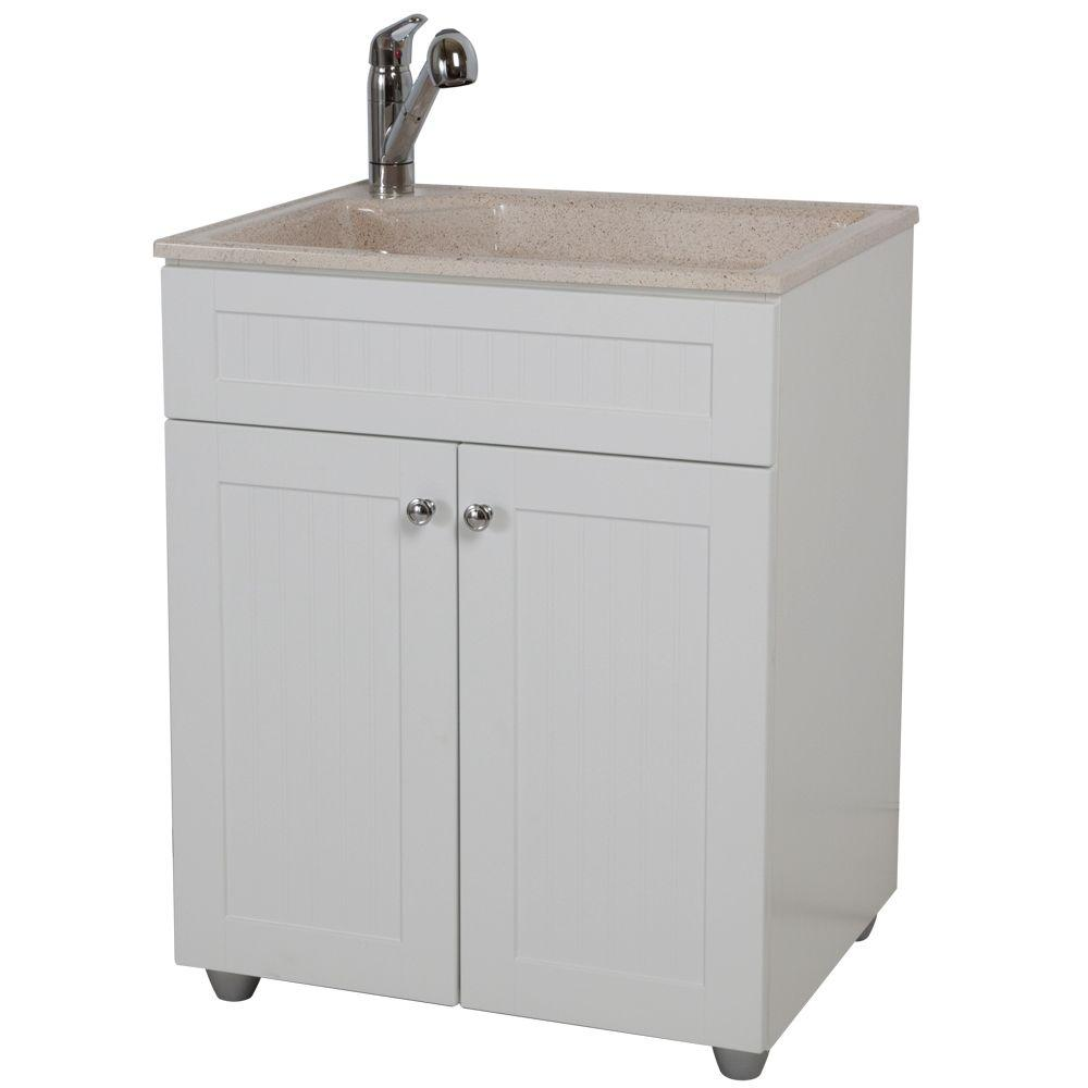 D Colorpoint Laundry Sink With Faucet And Storage Cabinet