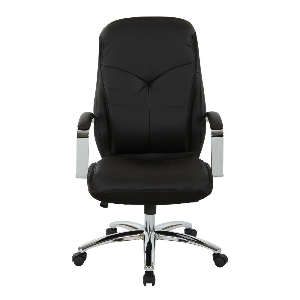 Clifton Office Chair with Black Mesh and Grey Faux Leather