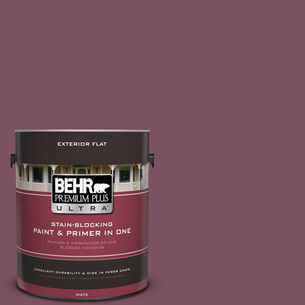 1-gal. #PPU1-19 Classic Berry Flat Exterior Paint