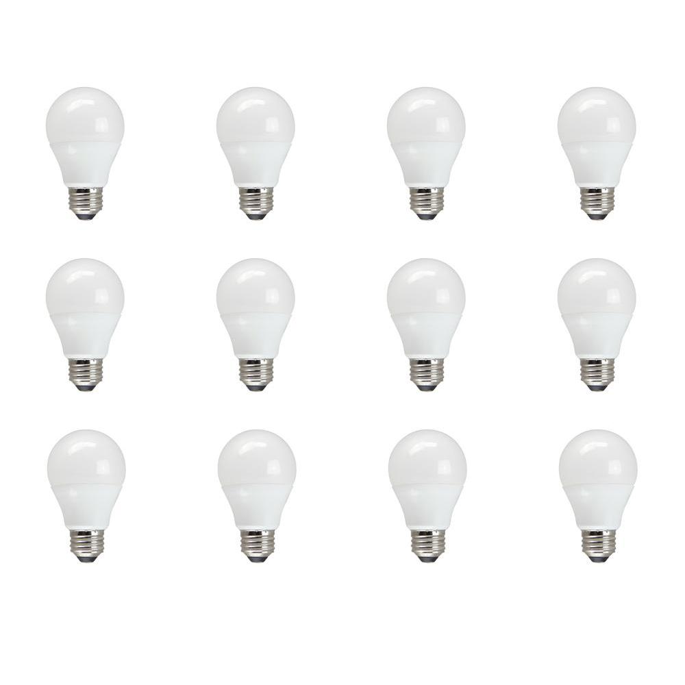 TCP TCP 60W Equivalent Soft White A19 Non Dimmable LED Light Bulb (12-Pack)