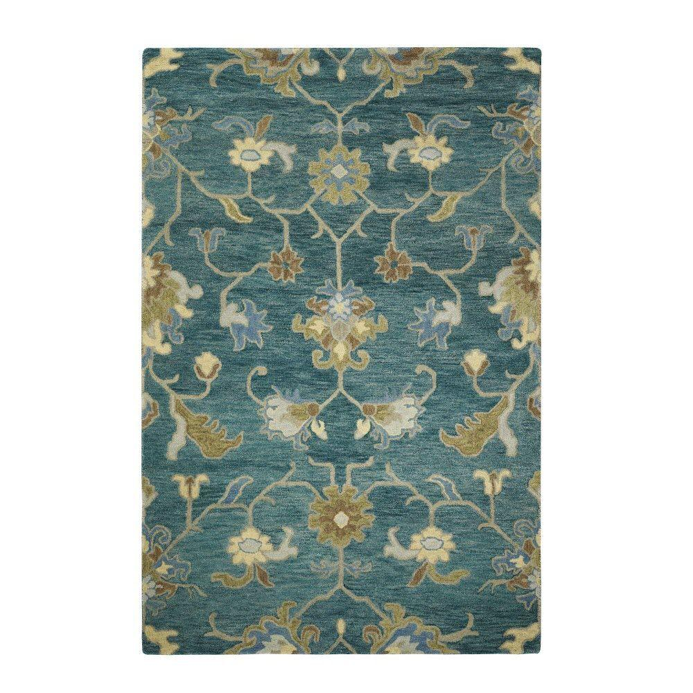 Home decorators collection montpellier teal 5 ft x 8 ft for Home decorators catalog rugs