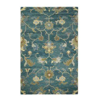 Montpellier Teal 5 ft. 3 in. x 8 ft. 3 in. Area Rug